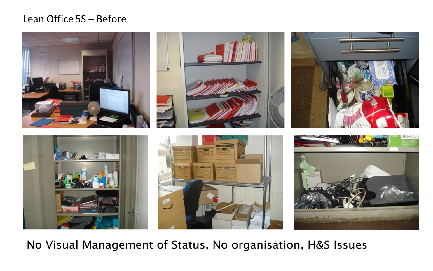 Lean Office 5S - Before 2